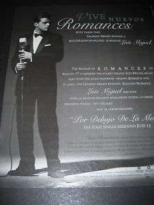 LUIS MIGUEL Sophisticated In Tuxedo 1997 PROMO AD