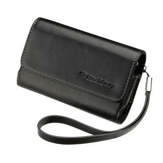 OEM Black Leather Folio Case Pouch Cover with strap BlackBerry TORCH