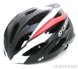 12 Giro SAVANT Black Red Road Bicycle Helmet Medium MSRP $90 New