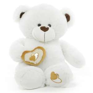 Chomps Big Love Huggable White Teddy Bear 30 in Toys