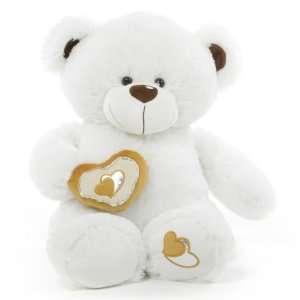 Chomps Big Love Huggable White Teddy Bear 30 in Toys