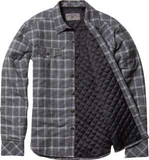 Fox Racing Mick Long Sleeve Quilted Flannel Shirt Heather Grey S/Small