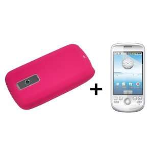Hot Pink Silicone Soft Skin Case Cover for HTC G2 Google