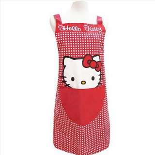 The happy chef works in the kitchen with this adorable Hello Kitty