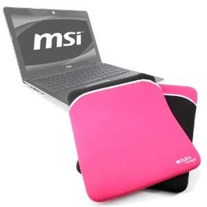 High Quality Soft Laptop Case With Black & Pink Reversible