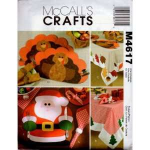 Holiday Table Settings McCalls Pattern M4617 Arts