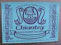 OLDE FROTHINGSLOSH ALE CHIANTEY Beer Label PENNSYLVANIA