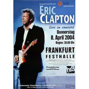 Eric Clapton   Back Home 2004   CONCERT   POSTER from