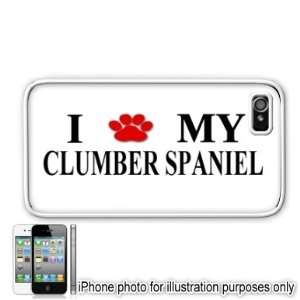 Clumber Spaniel Paw Love Dog Apple iPhone 4 4S Case Cover White