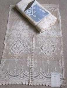 1930s Vintage Cotton LACE CURTAIN PANELS Clarice