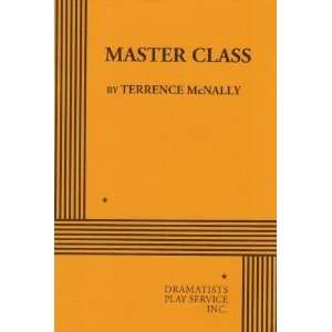 Master Class. [Paperback] Terrence McNally Books