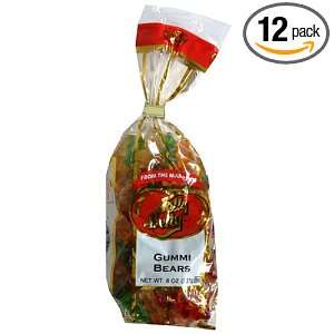 Jelly Belly Gummi Bears, Assorted Flavors, 8 Ounce Bags (Pack of 12