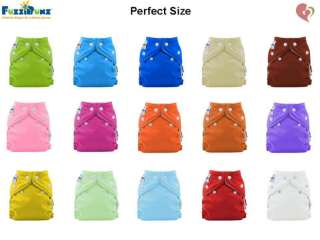 FuzziBunz Fuzzi Bunz Cloth Diaper Perfect Size x3