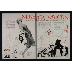 1926 Ad Alberta Vaughn F.B.O. Silent Films Kelley   Original Print