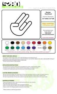 Shocker Hand Symbol Vinyl Decal, Car Sticker 3.5x3.5