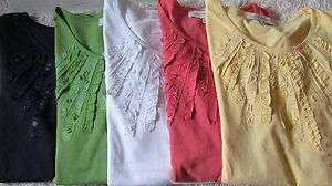 York Womens Knit Short Sleeve Cotton Shirt NWT MSRP $49.00 free shippi