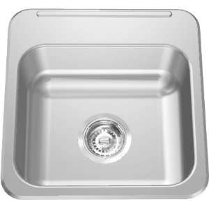 LBS1306 1 COMMERCIAL 15X15X6 NO HOLE TOP MOUNT STAINLESS STEEL SINK