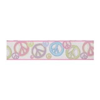 Love Sign Pre pasted Wallpaper Border, Silver Background/Pink/Black