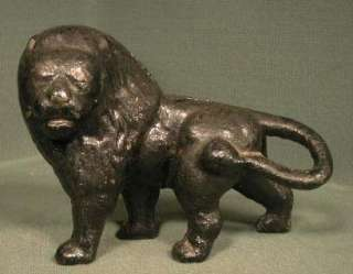 Antique Cast Iron Lion King Beasts Victorian Figural Statue Doorstop