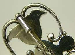 Georg Jensen Silver Pin #236 Vintage Sterling Brooch