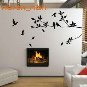 Stylish Tree and Birds Wall Art Stickers / Wall Decals