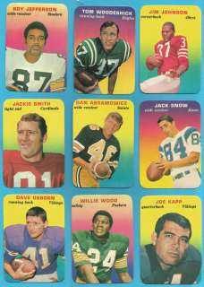 TOPPS FOOTBALL SUPER GLOSSY COMPLETE SET (33/33) SIMPSON UNITAS NAMATH