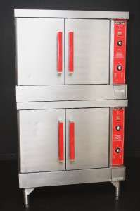 VULCAN FULL SIZE CONVECTION OVENS Double Stack   GAS COMMERCIAL BAKE