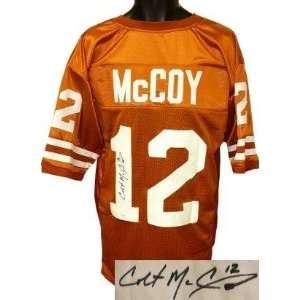Colt McCoy signed Texas Longhorns Orange Custom Jersey  McCoy Hologram