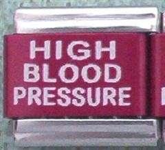 High Blood Pressure Medical Alert for Italian Charm Bracelets Free