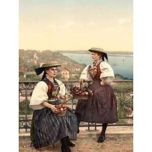 Vintage Travel Poster   National Vierlander costume Hamburg Germany 24