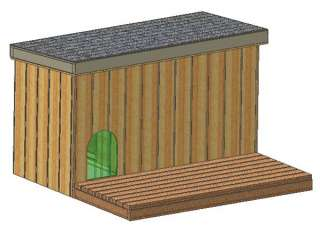 DOG HOUSE PLANS, 15 TOTAL, LARGE DOG, WITH COVERED PORCH PLANS