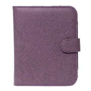 Cross Grain Texture Synthetic Leather Case Cover   Purple  Players