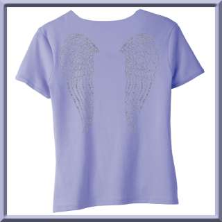 Rhinestones Cherub Angel Wings WOMENS SHIRTS S XL,2X,3X