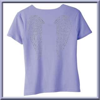 Rhinestones Cherub Angel Wings WOMENS SHIRTS S XL,2X,3X