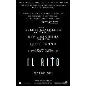 The Rite Movie Poster (11 x 17 Inches   28cm x 44cm) (2011