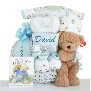 Personalized Miracle Baby Baby Boy Gift Basket Baby