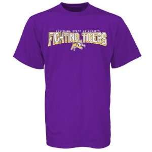 LSU Tigers Purple Youth School Mascot T shirt: Sports & Outdoors