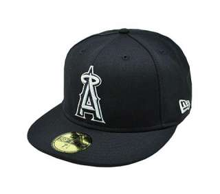 NEW ERA 59Fifty MLB Fitted Hat Cap Los Angeles Anaheim ANGELS Navy
