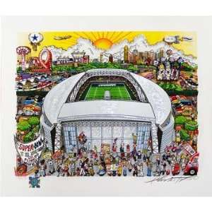 Charles Fazzino Dallas Cowboys   Cowboys Stadium Pop Art