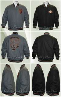 San Francisco Giants 2XL Gray Orange Reversible Wool Jacket Water