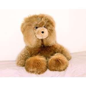 Large Brown Alpaca Teddy Bear   Baby alpaca fur     26