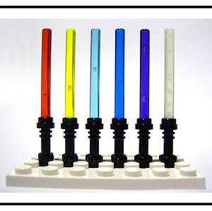 NEW☆ 6 LEGO STAR WARS LIGHTSABERS MINIFIG WEAPONS GLOW