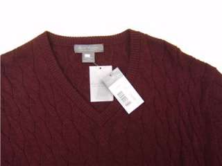 Daniel Cremieux 100% Royal Alpaca Mens Soft Sweater V Neck Cable Knit
