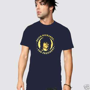 KEITH RICHARDS FOR PRESIDENT T SHIRT NEW