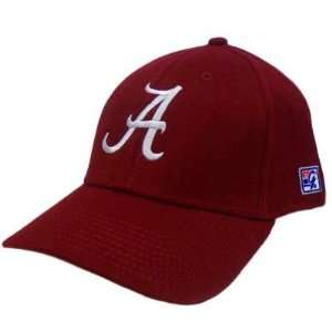 HAT CAP ALABAMA CRIMSON TIDE BAMA MAROON RED FLEX FIT LARGE NCAA GAME