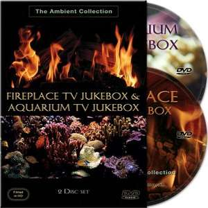 Fireplace TV Jukebox & Aquarium TV Jukebox 2 Disc Set