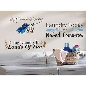 3PC Laundry Room Wall Decals
