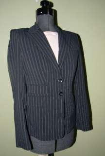 NWT MODA INTERNATIONAL ~ BLACK Stretch Blazer Suit Jacket 2
