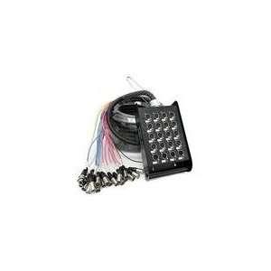 Audio   Snake Cable 16 Channel XLR Send, 8 Channel XLR R Electronics