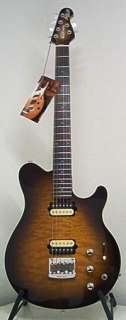 NEW Ernie Ball MusicMan Axis Super Sport w/ PIEZO Pickup Tobacco